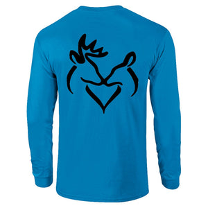 Black Snuggling Buck and Doe T-Shirt