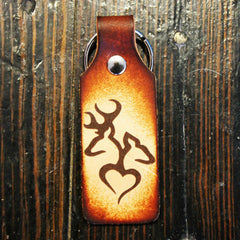 Her Cowboy and His Angel Custom Leather KeyChain Set