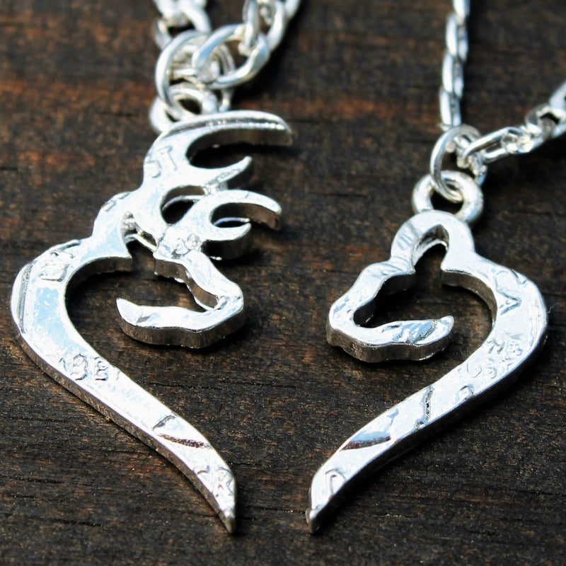 Buck and Doe Heart Couples Necklaces