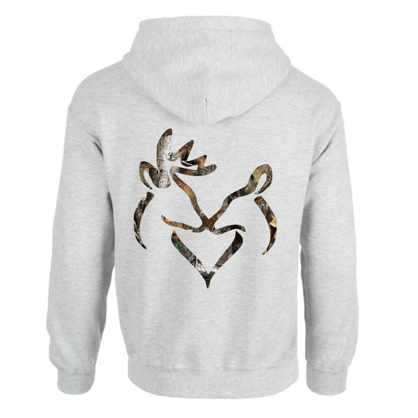 Camo Snuggling Buck and Doe Hoodie