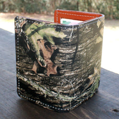 Mossy Oak Camo Premium Leather Tri-fold Wallet