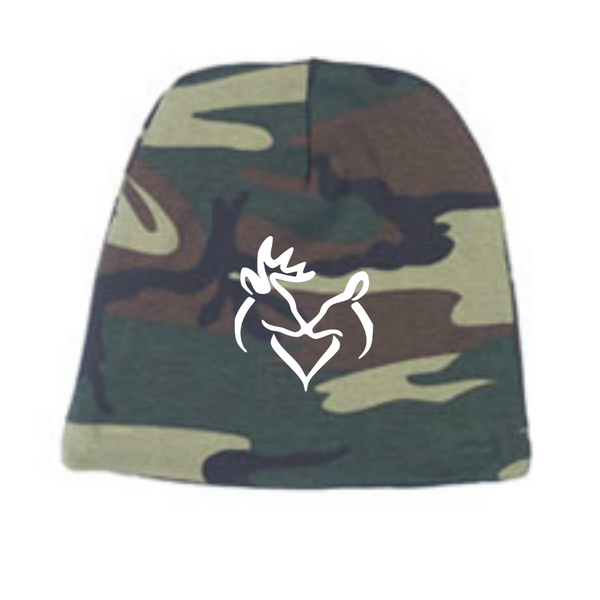 Classic Snuggling Buck Doe Camo Child Beanie