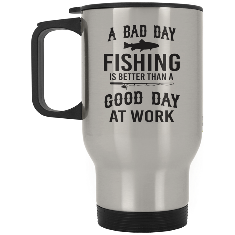 Bad Day Fishing Travel Mug