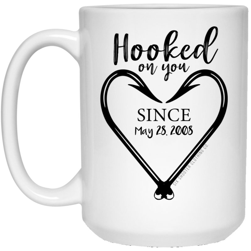Personalized Hooked On You Coffee Mug