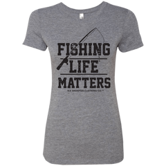 Fishing Life Matters - Women's T-Shirt - Black
