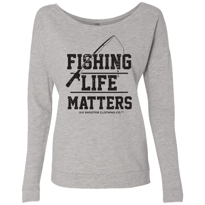 Women's Fishing Life Matters French Terry Scoop