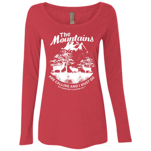 Women's Deer & Elk Mountains Long Sleeve Shirt - White Graphic