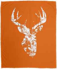 Large Camo Buck Micro Fleece Blanket