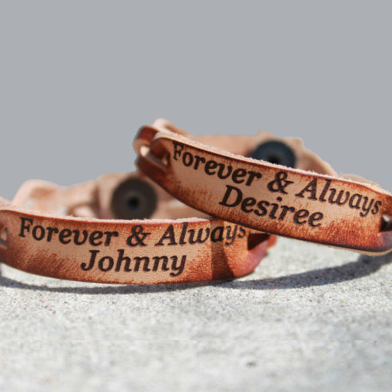 Forever & Always Custom Leather Bracelet