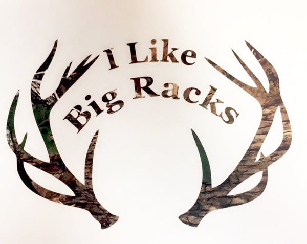 I Like Big Racks Green Camo Vinyl