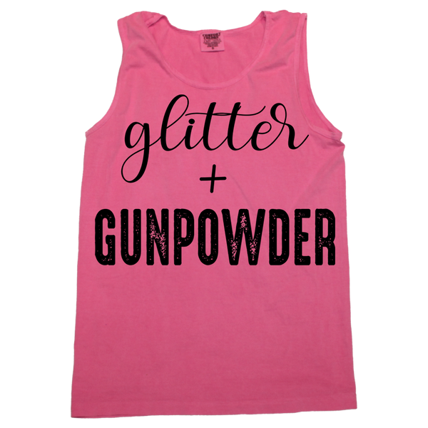 Glitter + Gunpowder Tank (sizes run big)
