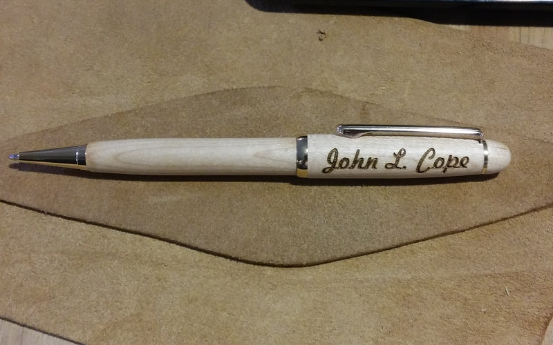 Wooden Pen Custom Engraved with Name