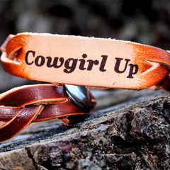 Cowgirl Up Leather Braided Bracelet
