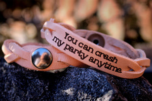 Crash My Party Leather Bracelet