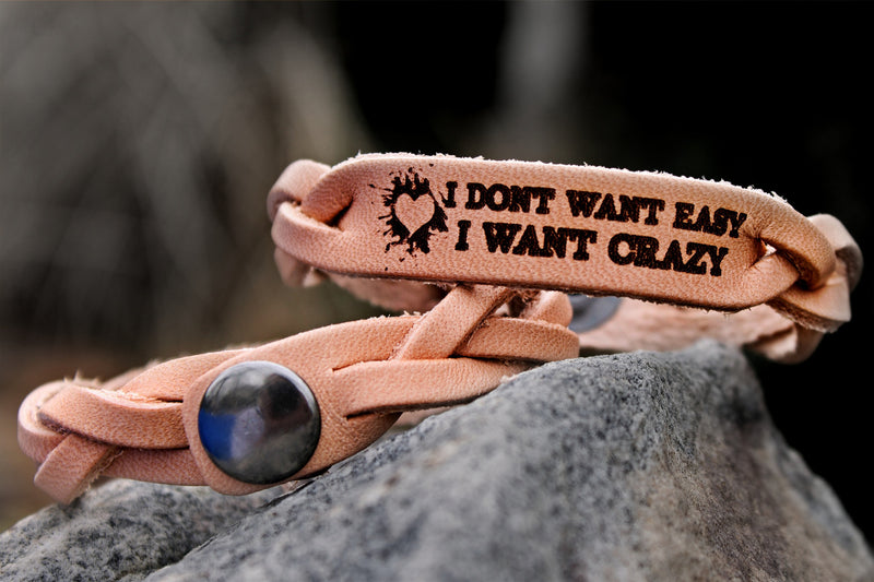 Crazy Not Easy Leather Bracelet