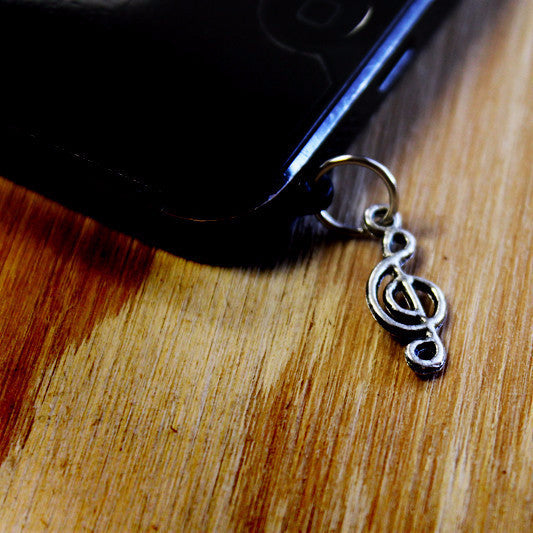 Music Note Cell Charm