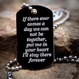 If There Ever Comes a Day Dog Tag Necklace
