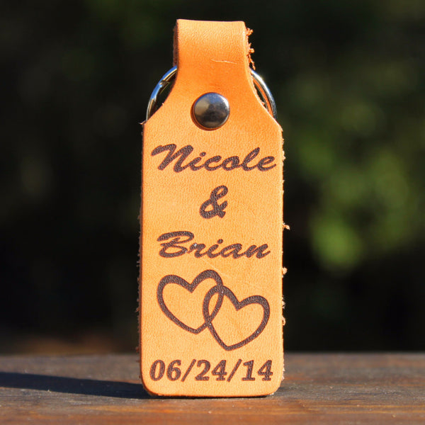 Personalized Keychain with Names & Date