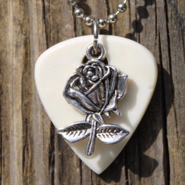 Rose Guitar Pick Necklace