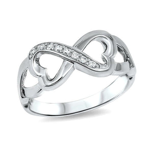 Sterling Silver Infinity Heart Ring (SIZE 5 ONLY)