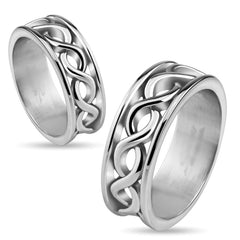 Stainless Steel Infinity Band Ring