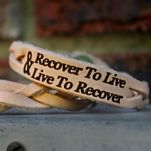 Live to Recover Leather Bracelet
