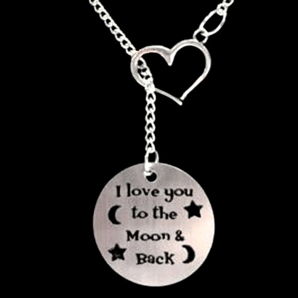 Moon & Back 1 Piece Necklace