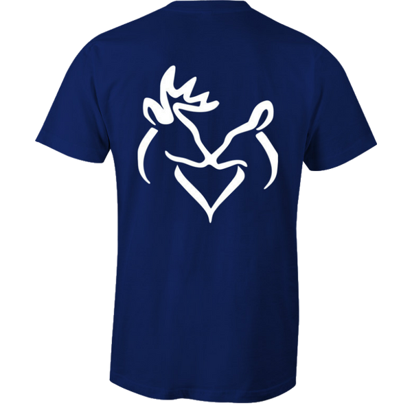 White Snuggling Buck and Doe T-Shirt