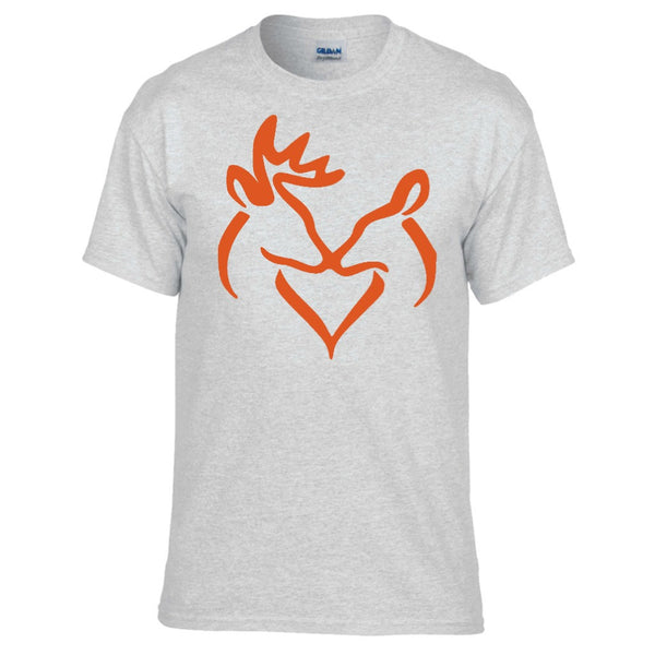 Orange Snuggling Buck and Doe T-Shirt