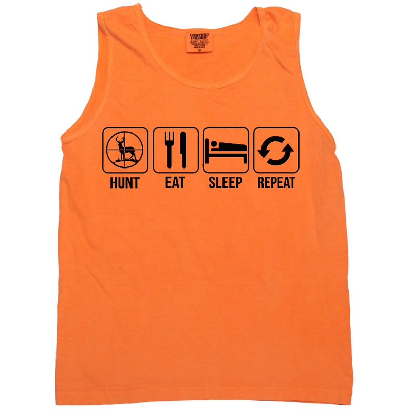 Hunt Eat Sleep Repeat Graphic Tank (sizes run big)