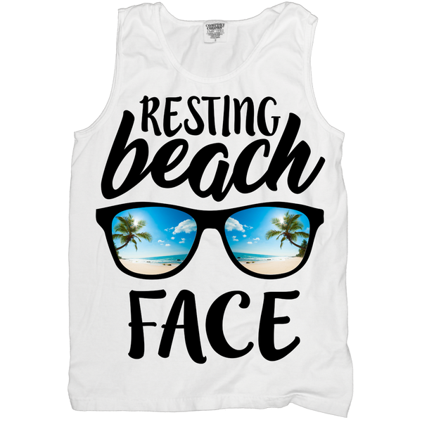 Resting Beach Face Tank (sizes run big)