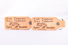 Fish Together, Stay Together Leather Keychain