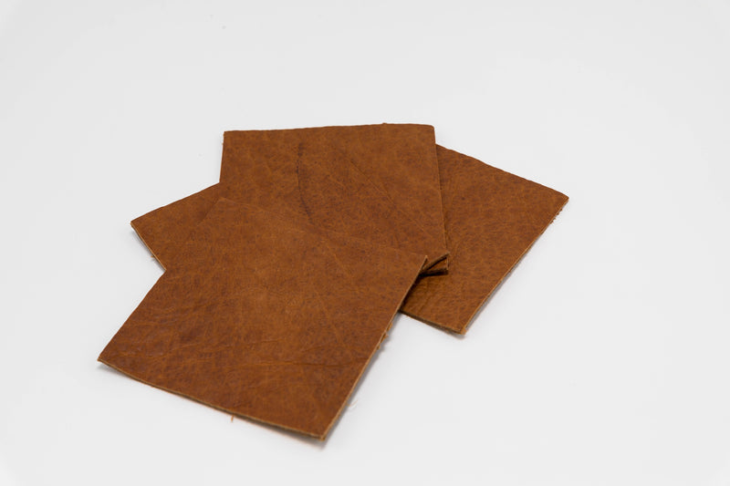 Buffalo Hide Genuine Leather Coasters | Set of 4