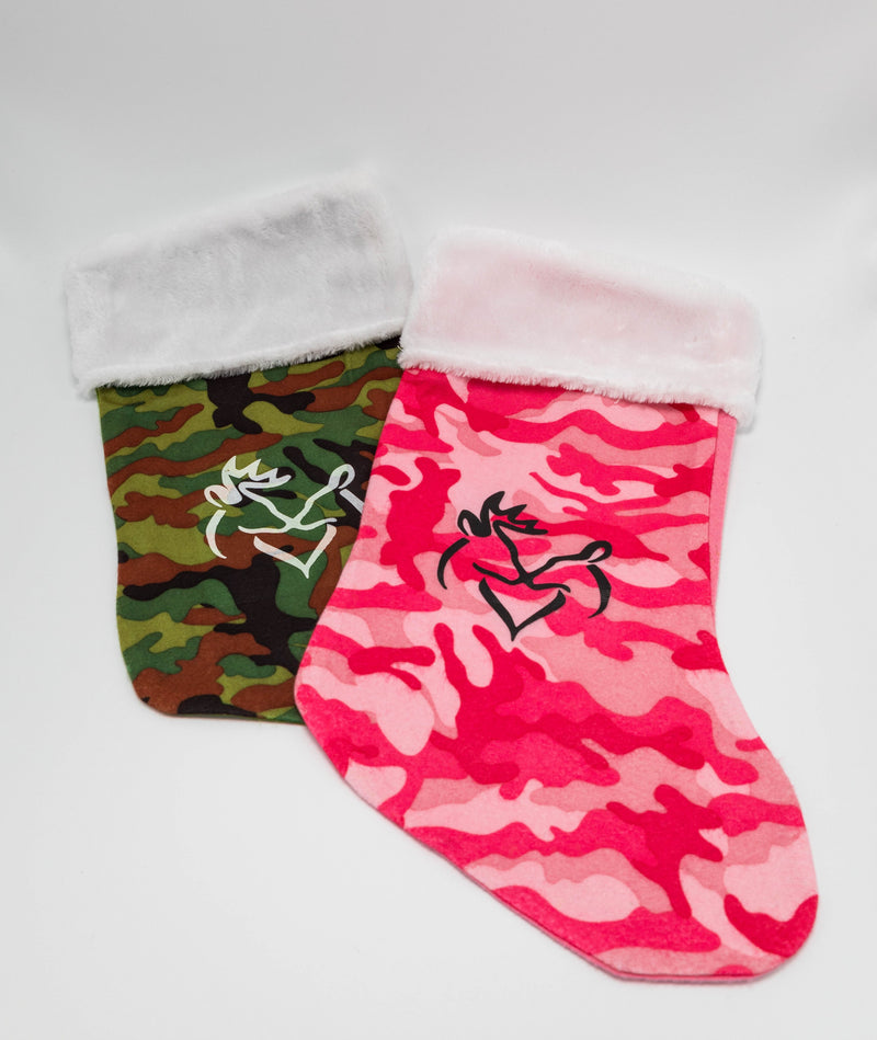 Camo Christmas Stockings | Snuggling Buck & Doe
