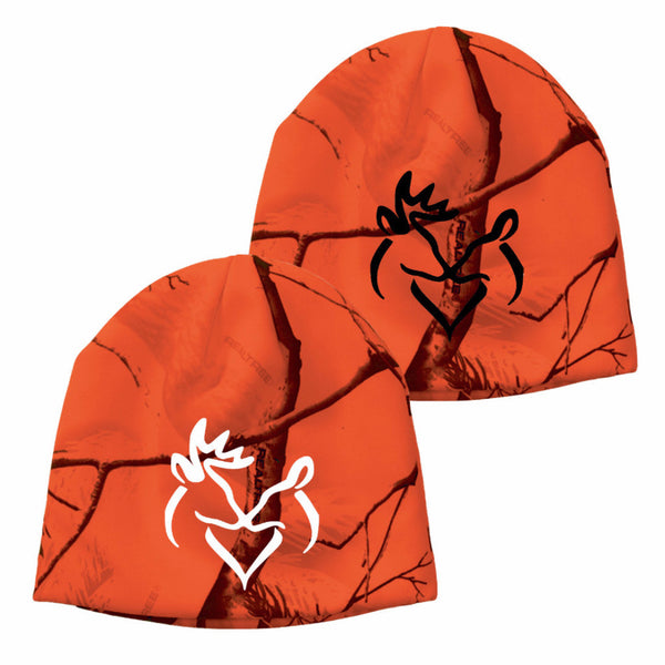 Snuggling Buck & Doe Real Tree Blaze Camo Beanie