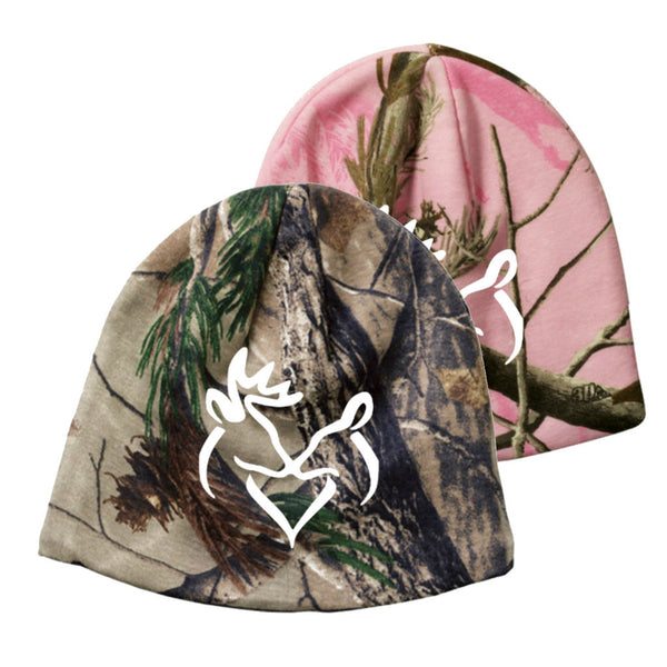 White Snuggling Buck & Doe Realtree Camo Beanie (PINK SOLD OUT)