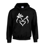 Classic Snuggling Buck and Doe Hoodie