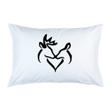 Snuggling Buck Doe Pillow Case