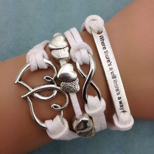 Where There's A Will Theres A Way Stacked Bracelet