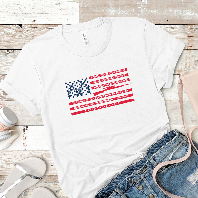 2nd Amendment Flag Women's Tee