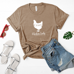 Crazy Chicken Lady Tee