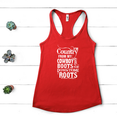 Women's I'm Country Racerback Tank