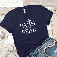 Women's Faith Over Fear Cross Tee