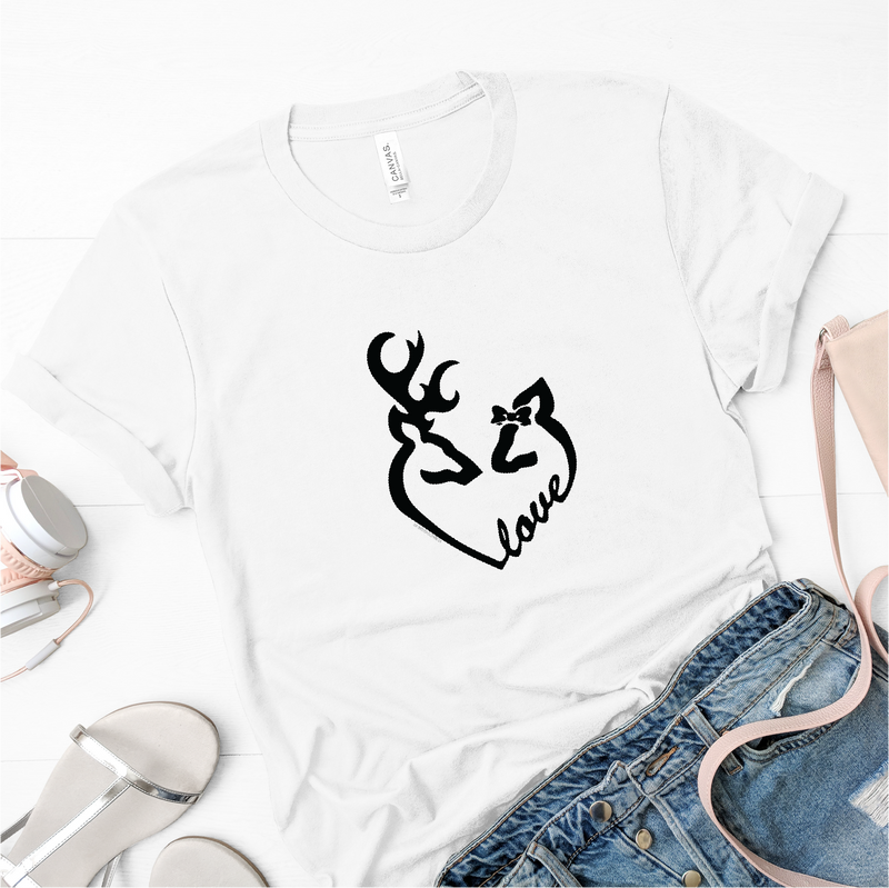 Buck and Doe Love Heart Tee