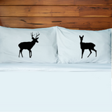 Deer Couples Pillow Case