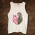 Buck Doe Heart in Pink and Camo Tank (sizes run big)