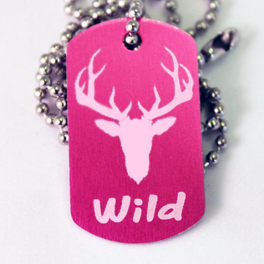 Buck Wild Dog Tag Necklace