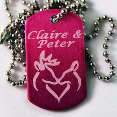 Her Buck and His Doe Dog Tags