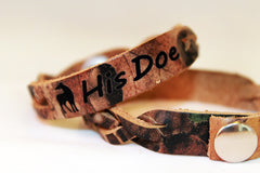 His Doe Single Camo Leather Bracelet