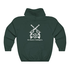 Six Shooter Men's Hoodie Logo on Back